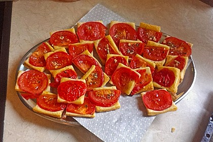 Blätterteig - Tomaten - Quadrate 132