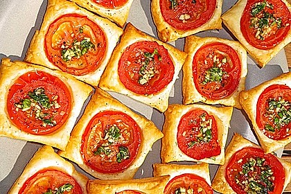 Blätterteig - Tomaten - Quadrate 74