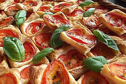 Blätterteig - Tomaten - Quadrate 2