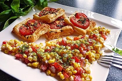 Blätterteig - Tomaten - Quadrate 16