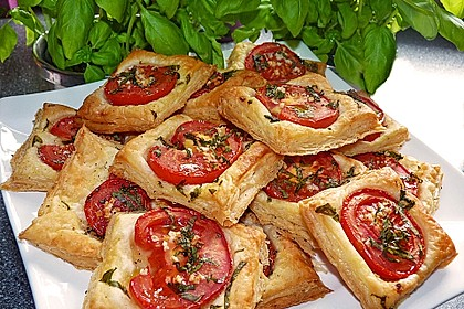 Blätterteig - Tomaten - Quadrate 12