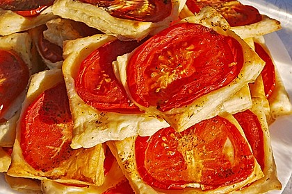 Blätterteig - Tomaten - Quadrate 135
