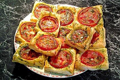 Blätterteig - Tomaten - Quadrate 70