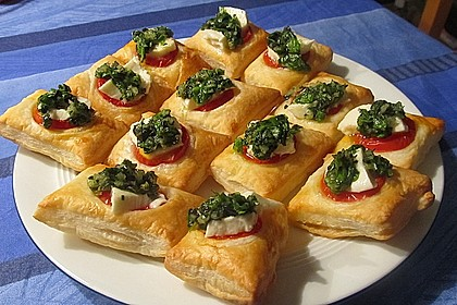 Blätterteig - Tomaten - Quadrate 11