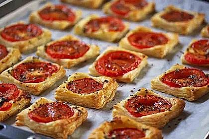 Blätterteig - Tomaten - Quadrate 98