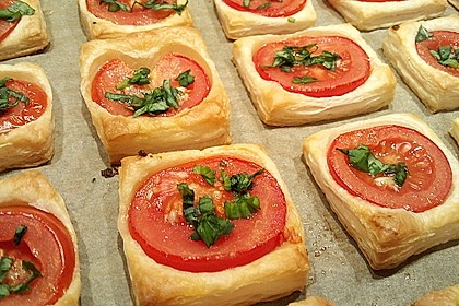 Blätterteig - Tomaten - Quadrate 13