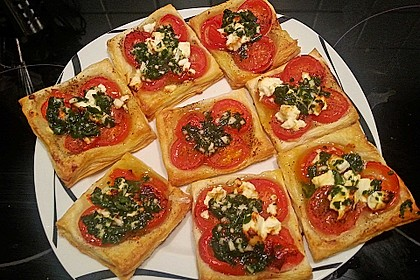 Blätterteig - Tomaten - Quadrate 56