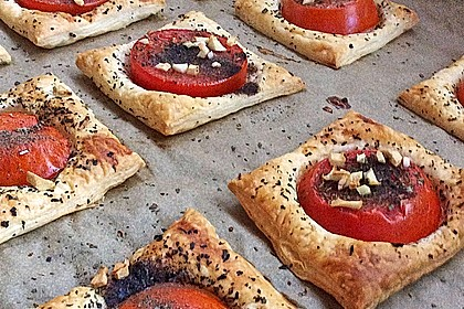 Blätterteig - Tomaten - Quadrate 173