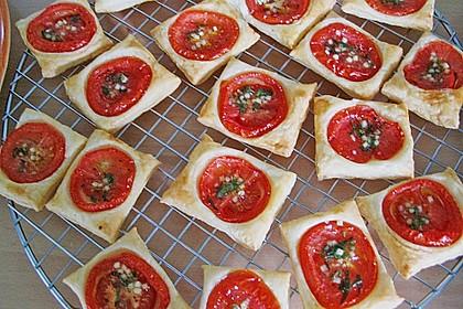 Blätterteig - Tomaten - Quadrate 186