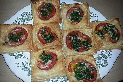Blätterteig - Tomaten - Quadrate 207