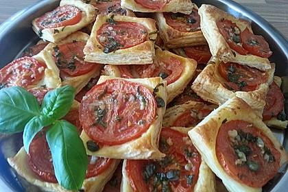 Blätterteig - Tomaten - Quadrate 155