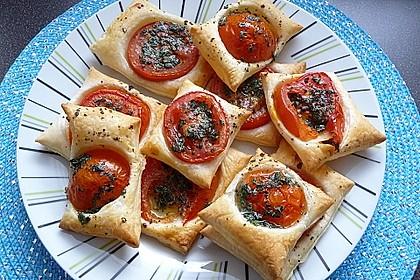 Blätterteig - Tomaten - Quadrate 9