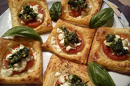 Blätterteig - Tomaten - Quadrate 10
