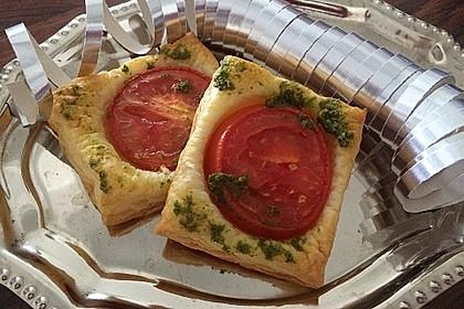 Blätterteig - Tomaten - Quadrate 104