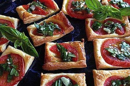 Blätterteig - Tomaten - Quadrate 62