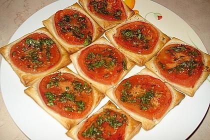 Blätterteig - Tomaten - Quadrate 80