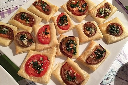 Blätterteig - Tomaten - Quadrate 112