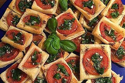 Blätterteig - Tomaten - Quadrate 14