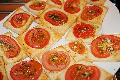 Blätterteig - Tomaten - Quadrate 124