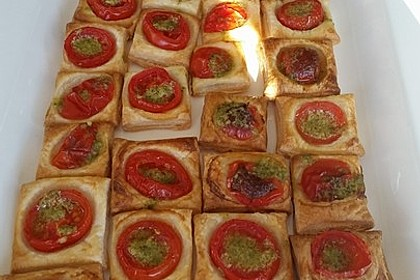 Blätterteig - Tomaten - Quadrate 185