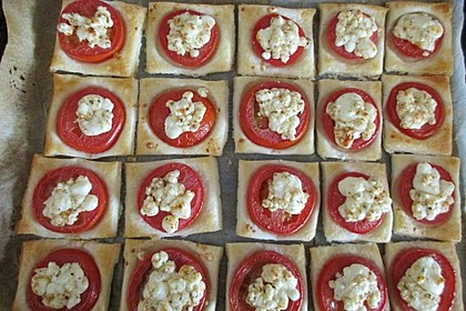 Blätterteig - Tomaten - Quadrate 180