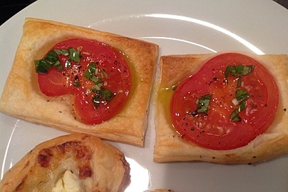 Blätterteig - Tomaten - Quadrate 102