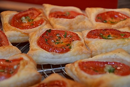 Blätterteig - Tomaten - Quadrate 22