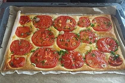 Blätterteig - Tomaten - Quadrate 123