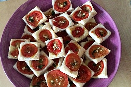 Blätterteig - Tomaten - Quadrate 75