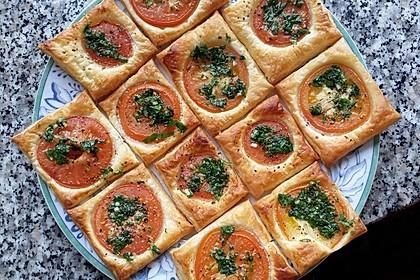 Blätterteig - Tomaten - Quadrate 137