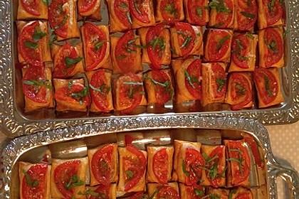 Blätterteig - Tomaten - Quadrate 157