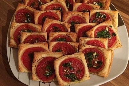 Blätterteig - Tomaten - Quadrate 25