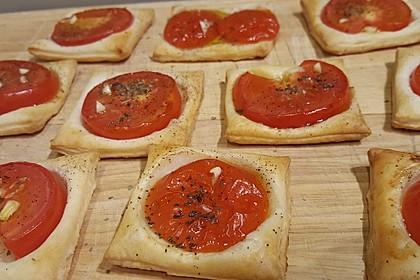 Blätterteig - Tomaten - Quadrate 20