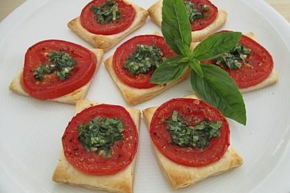 Blätterteig - Tomaten - Quadrate 87