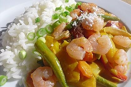 Garnelen - Paprika - Möhren - Reis - Pfanne 3