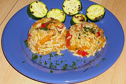 Garnelen - Paprika - Möhren - Reis - Pfanne 2