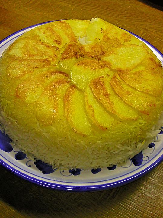 Persischer reis tahdig von strawberryshortcake - Reis im reiskocher ...