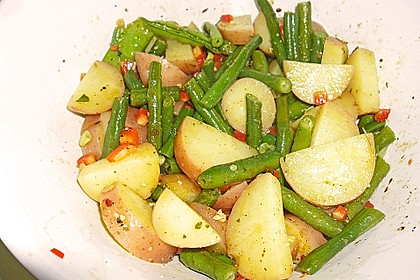 Grüne Bohnen - Kartoffel - Salat 1