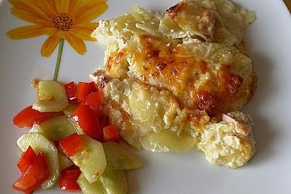 Sahniges Kartoffel - Fleischwurst - Gratin 2