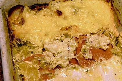 Sahniges Kartoffel - Fleischwurst - Gratin 19