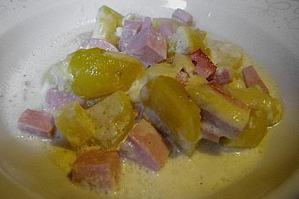 Sahniges Kartoffel - Fleischwurst - Gratin 17