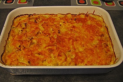 Sahniges Kartoffel - Fleischwurst - Gratin 20