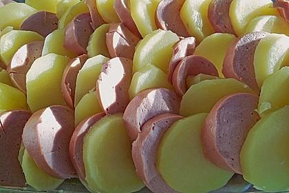 Sahniges Kartoffel - Fleischwurst - Gratin 11