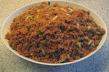Weizengrützesalat (Kisir) 1