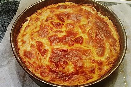 Apfelkuchen mit Creme - Guss 4