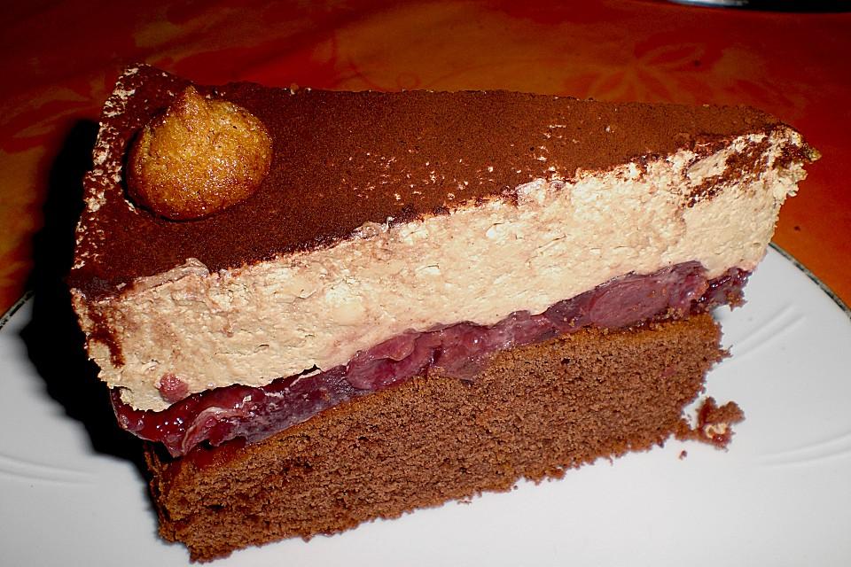 Cappuccino - Kirsch - Torte Von Wuschel27
