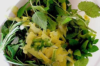 Zitronen - Sirup mit Pfefferminze und Zitronenmelisse 4