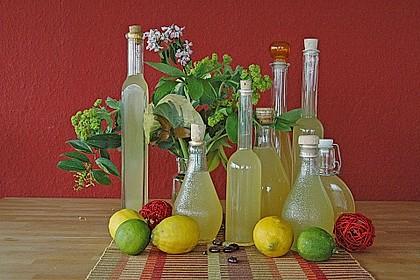 Zitronen - Sirup mit Pfefferminze und Zitronenmelisse