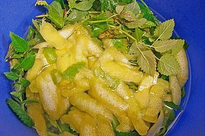 Zitronen - Sirup mit Pfefferminze und Zitronenmelisse 10