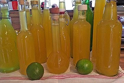 Zitronen - Sirup mit Pfefferminze und Zitronenmelisse 3